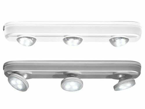 LIVARNO LUX® LED Unterbauleuchte,65 ml weiss und silber Batterien inkl