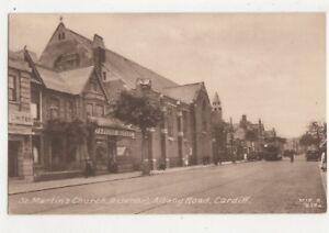 St-Martins-Church-Albany-Road-Cardiff-Vintage-Postcard-Glamorgan-750b