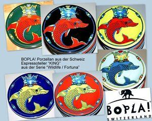 KING-lustiger-Fisch-Bopla-Porzellan-Unterteller-13cm-zur-Espressotasse