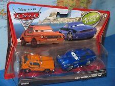 DISNEY PIXAR CARS 2 GREM & DAMAGED ROD TORQUE REDLINE 2 PACK *BRAND NEW & RARE