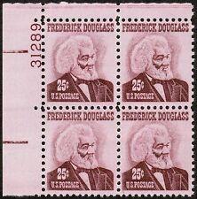 US USA Sc# 1290 MNH FVF PLATE # BLOCK Frederick Douglass Writer Statesman Untag