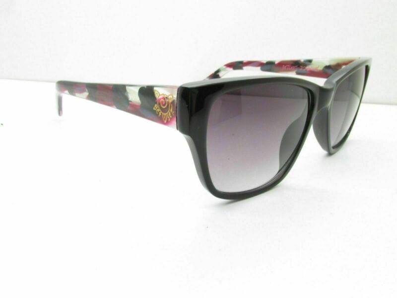 Betsey Johnson Bj225 Negro Rectangular Gafas De Sol 53-16-135
