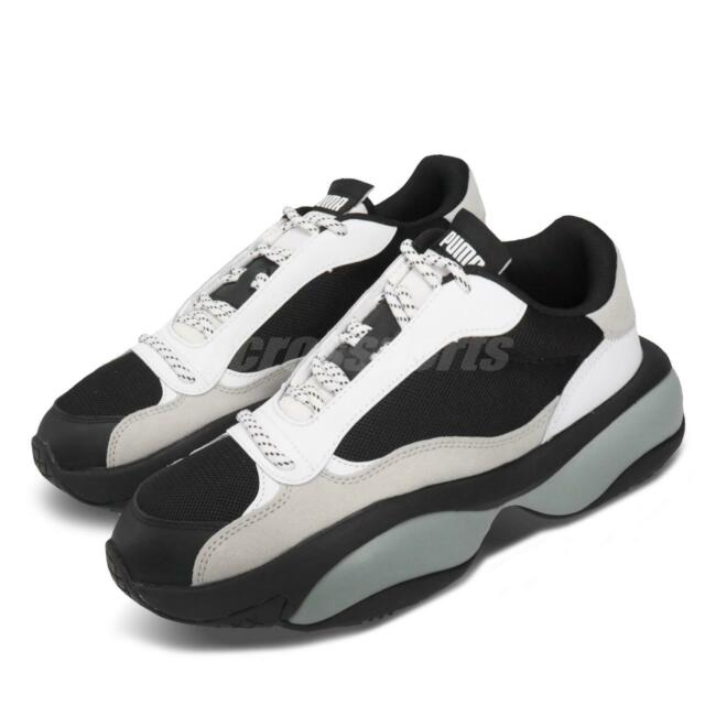 Puma Alteration Core Black White Grey Men Chunky Casual Lifestyle Shoe 371584-01