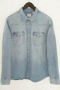 Hommes Levi Strauss & Co.Décontracté Chemise Coton Bleu XL MJA700