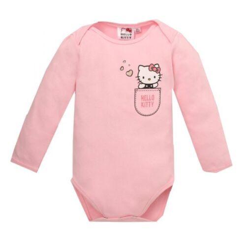 rosa talla 62-92 manga larga efecto brillante Hello Kitty body
