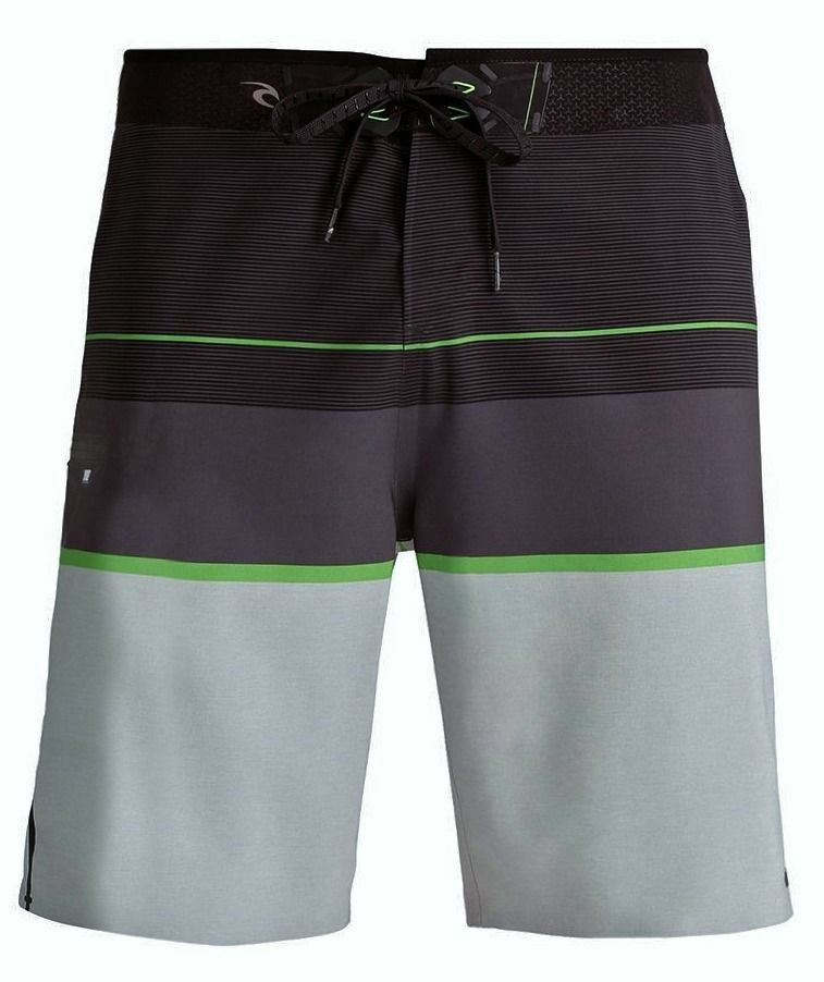 RIP CURL Mirage MF Focus ULT Grey Board Shorts Swim Trunks Mens Youth Waist 28