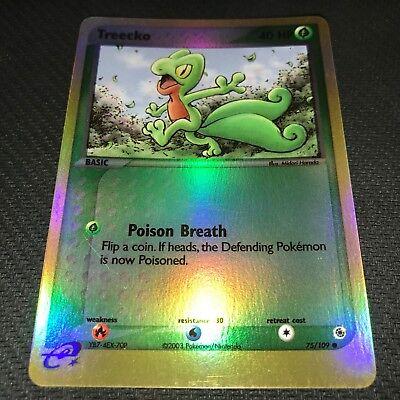 RUBY SAPPHIRE NM POKEMON TREECKO 75//109 REVERSE HOLO CARD