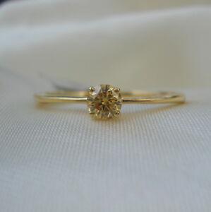 Certificado-0-25ct-Natural-sin-Tratar-diamante-solitario-anillo-de-compromiso-de-oro-18k