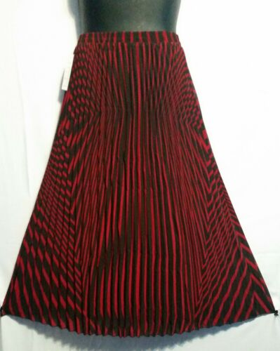 Women pleated elastic waist polyester dressy long skirt fully lined free size