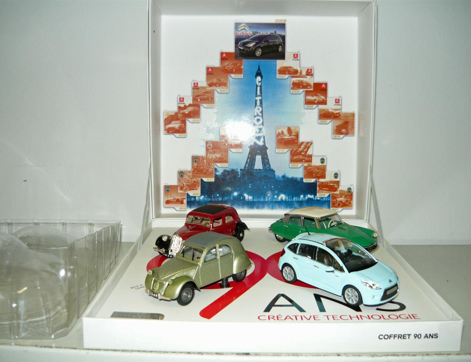 NOREV, Coffret 90 ans-Citroën, 4er Set, 1 43, neu&ovp