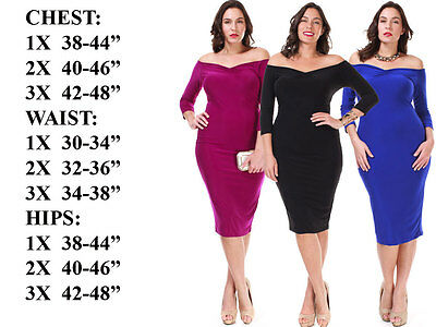 NEW Sexy Bandage BodyCon Party Cocktail Evening Pencil Club Midi Dress PLUS SIZE
