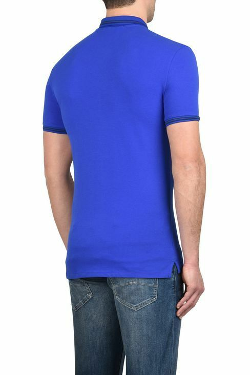 ARMANI Jeans Da Uomo Royal blu blu blu Maglietta Slim Fit Polo Shirt Tutte Le Taglie 2567ce