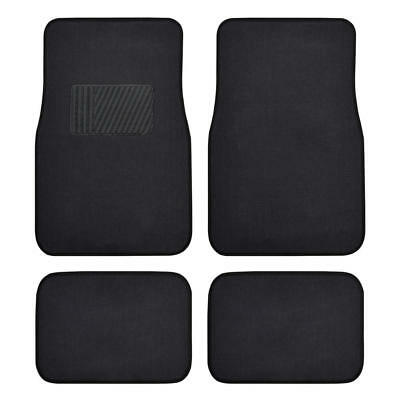 Auto Floor Mats For Car Classic Carpet W Heelpad Black