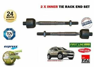 /> NEW 2x Inner Track Rack Tie Rod End Set Pour Dacia Duster SUV 2012