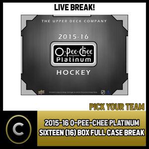 2015-16-O-PEE-CHEE-PLATINUM-16-BOX-FULL-CASE-BREAK-H278-PICK-YOUR-TEAM