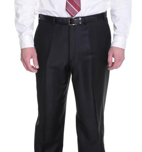 Alfani Classic Fit Solid Black Wool /& Cashmere Blend Flat Front Dress Pants