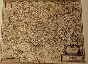 Historische-Landkarte-Schwaben-Esslingen-Stuttgart-Nuertingen-Cannstadt-1658