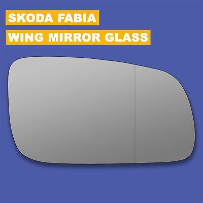 Skoda Roomster 2006-/> Wing Mirror Glass Heated O//S Drivers Side Right