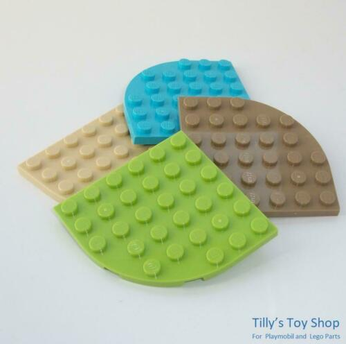 NEW ID 6003 Rounded Corner Four 6x6 Thin Tile Lego Pick a Colour