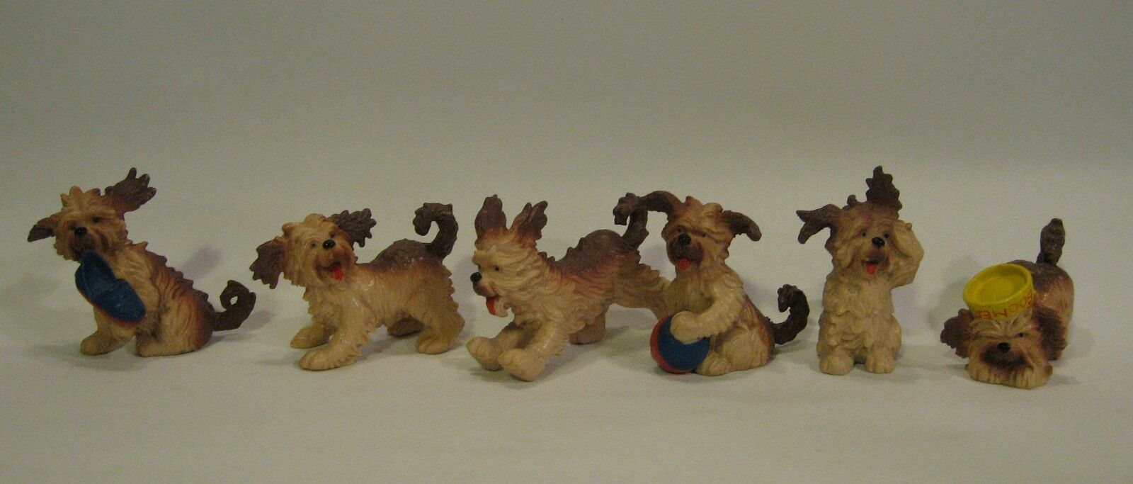 RARE HERE'S BOOMER (BOOMER DOG), 6 PVC FIGURES MAIA & BORGES M+B PORTUGAL, 1981.