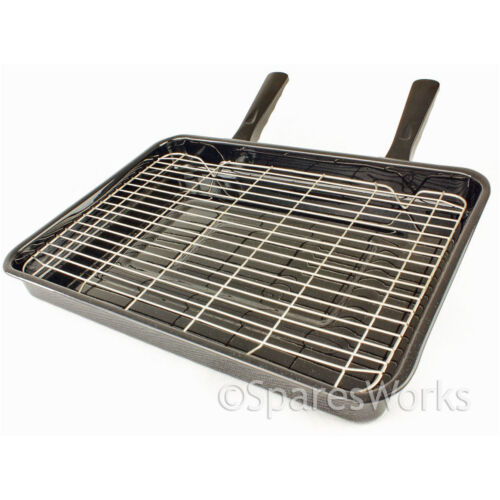 STUFE EXTRA LARGE Vitreo Smalto GRILL PAN /& staccabile MANICI 420x300mm
