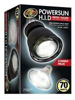 Zoo Med's Powersun High Intensity Discharge Metal Halide Lamp & Fixture 70watt