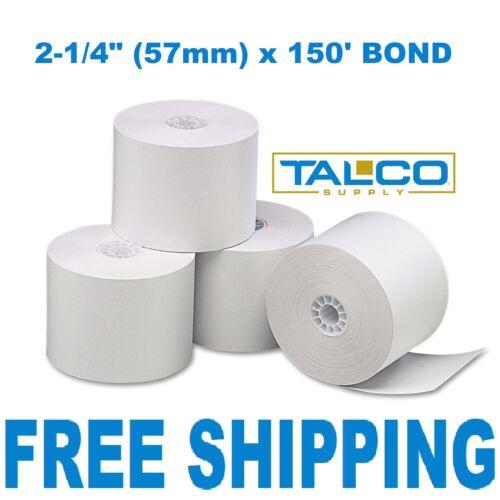 "CALCULATOR PLAIN PAPER 6 ROLLS ~FREE PRIORITY SHIPPING~ 2-1//4/"" x 150/' BOND"