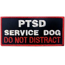 Hook Loop Embroidered Patches Badges for Service Dog Pet Harness Working 1#