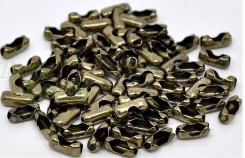 3,2mm antikbronze metallic schwarz 25 Verschlüsse 10 x 4 für Kugelketten 2,5mm