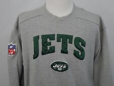 VTG STARTER NFL NEW YORK JETS CREWNECK SWEAT SHIRT SWEATER PATCH LOGO SZ L EUC