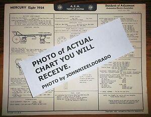 1954-Mercury-EIGHT-Series-All-Models-AEA-Tune-Up-amp-Wiring-Chart-RE-PRINT