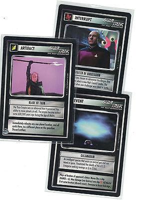 STAR TREK CCG Q CONTINUUM RARE CARD PAXAN WORMHOLE