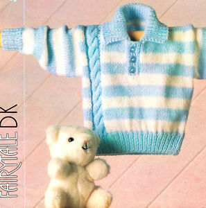 849b6c954570 Striped Baby Sweater with Side Cable   Collar 16