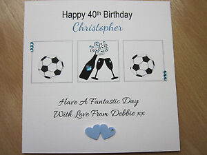 Image Is Loading Personalised Handmade Male Birthday Card 21st 30th 40th
