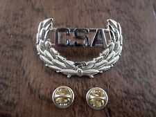 U.S CIVIL WAR C.S.A CAP BADGE REBEL HAT PIN CSA CONFEDERATE STATES OF AMERICA