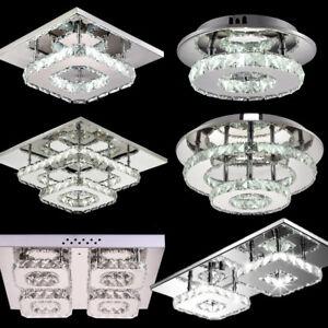 Led Crystal Ceiling Lamp Modern