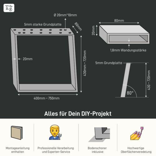 Design Tischkufen schräg Bankkufen Möbelkufen geneigt Tischgestell Esstisch DIY