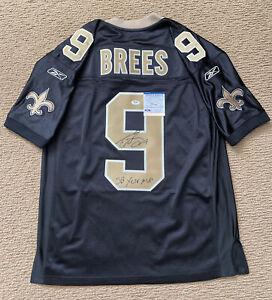 "Drew Brees Signed Authentic On Field Jersey Inscribed ""SB XLIV MVP"" Psa/Dna Coa"