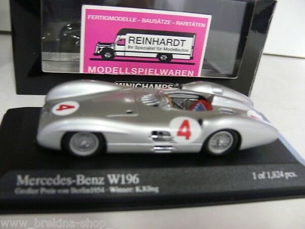 vendita di fama mondiale online 1 43 Minichamps MB w196 gree gree gree prezzo di Berlino'54  4 432543004  prezzi bassi