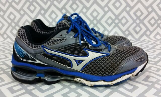 New Men/'s Mizuno Wave Creation 18 Running Shoes Size 9 Navy//Blue//Silver