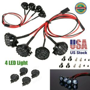 4-LED-Car-Model-Light-With-Lampshade-For-1-10-Traxxas-HSP-RC-Crawler-Car-Part-XA
