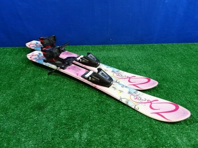 K2 Skis With Bindings  K2 Luv Bug  Pink White bluee