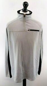 FILA-Mens-Jumper-Sweater-L-Large-Grey-Polyester-1-4-Zip