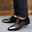 Men Snakeskin Leather Slip on Loafers shoes Business Brogues Dress Shoes boots#