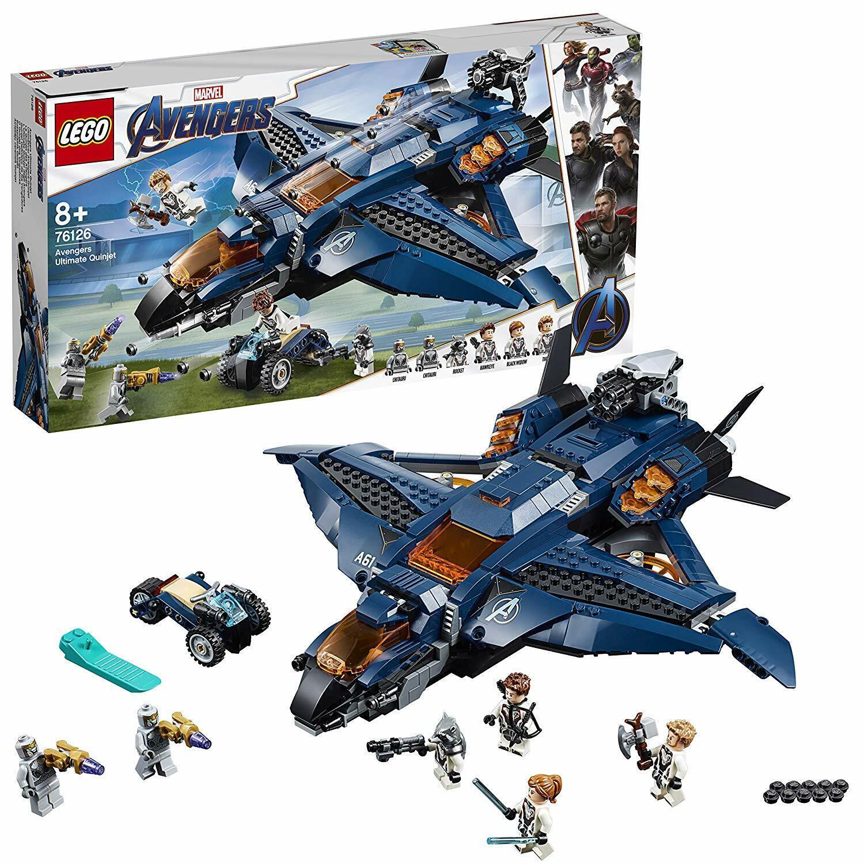 LEGO Los Vengadores 76126. Quinjet Definitivo de los Vengadores. Más  de 8 años  Sconto del 70%