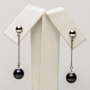 High-Luster-AAA-Black-Akoya-Pearl-Long-Drop-Earrings-925-Sterling-Silver-7-7-5mm