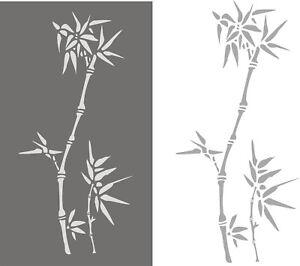 Stupfschablonen-Wandschablone-Malerschablonen-Dekorschablone-Stencil-Bambus