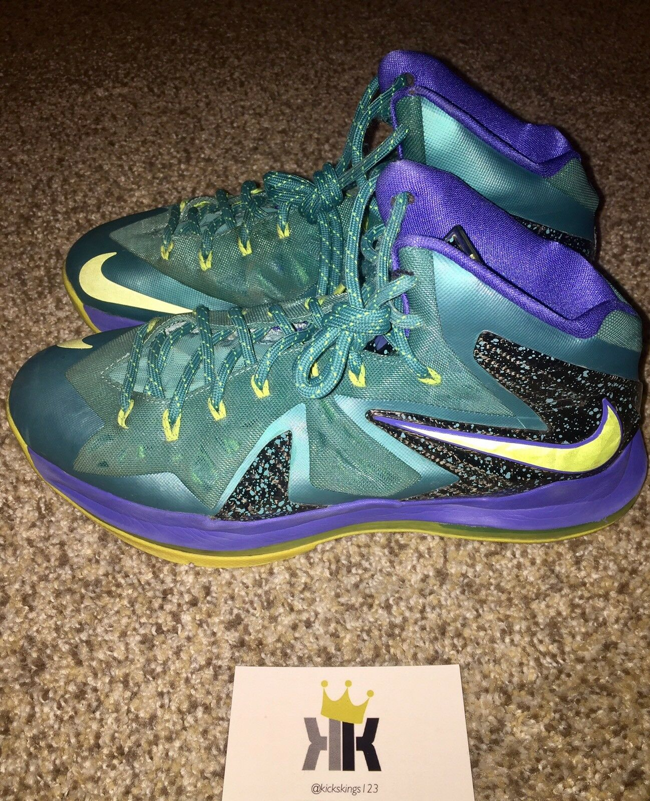 Pre-Owned LeBron 10 X P.S. 2013 Elite 579827-300 Size 9 2013 P.S. Release 7df19d