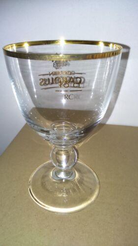 Liseret doré sur pied 1x Verre 15 cl  ※ Bière Gouden CAROLUS ※ COLLECTION