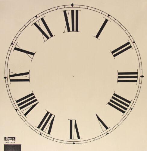 environ 30.48 cm Nouveau 11 To 12 in Ivoire Livre Horloge Cadran-Choisir arabe ou Chiffres Romains!